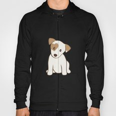 Heart spotted jack Russell Terrier Dog Hoody