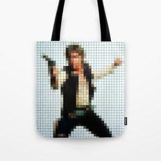Han with Gun Pixels Texture Tote Bag