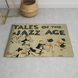 Tales of the Jazz Age vintage book cover - Fitzgerald Rug