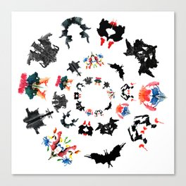 Rorschach test subjects' perceptions of inkblots psychology   thinking Exner score Canvas Print