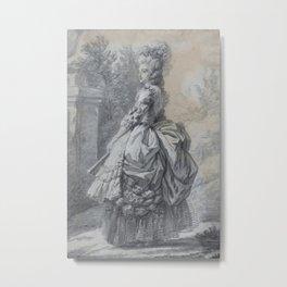 Elisabeth Louise Vigée Le Brun - Marie Antoinette in a Park Metal Print
