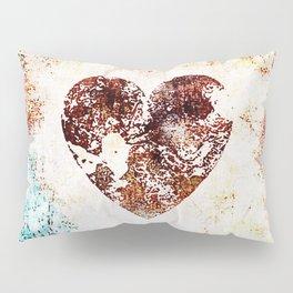 Vintage Heart Abstract Design Pillow Sham