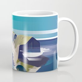 Alone In Nature - Deep Blue Deep View Coffee Mug
