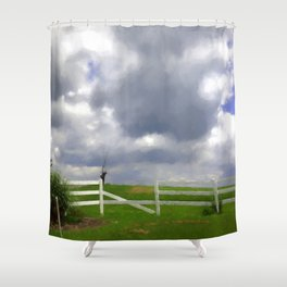 One Hot Summer Day Shower Curtain