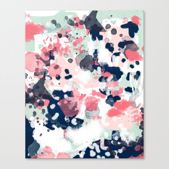 Hayes - abstract painting minimal trendy colors nursery baby decor office art Canvas Print
