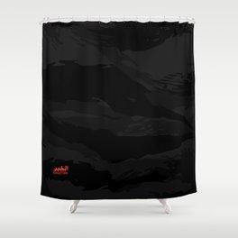 Black Tiger Camouflage Shower Curtain