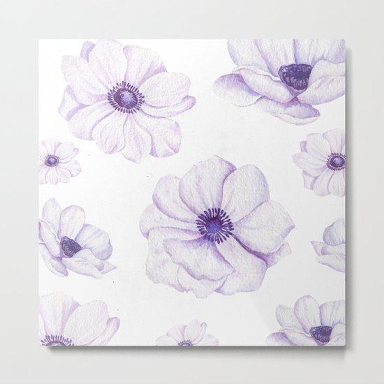 Anemones 2 White #society6 #buyart Metal Print