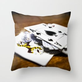 Risk and reward Throw Pillow