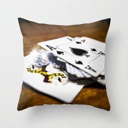 Risk and reward Throw Pillow