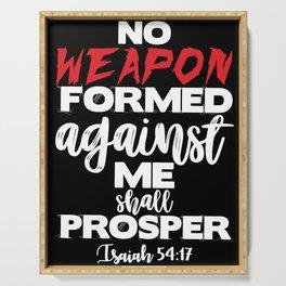 Isaiah 54:17 Serving Tray