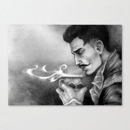 Dragon Age Inquisition - Dorian Pavus - Morning tea Canvas Print