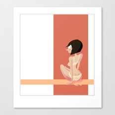 Cute red shapes pin-up / Mignonne pin-up aux formes rouges Canvas Print