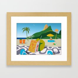 GLOBO COOKIES IN RIO Framed Art Print