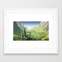 nausicaa Framed Art Prints featuring The Valley of the Wind, Nausicaa by Roberto Nieto