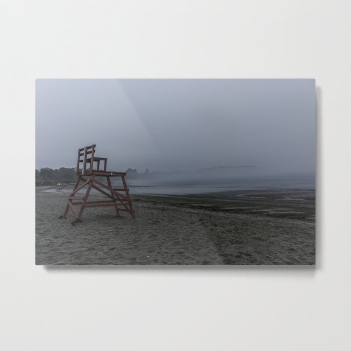 Niles Beach Foggy Evening Metal Print