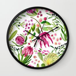 Protea Flower Bloom Wall Clock