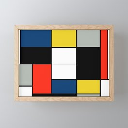 Piet Mondrian - Large Composition A with Black, Red, Gray, Yellow and Blue, 1930 Artwork Framed Mini Art Print
