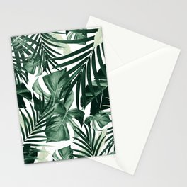 Tropical Jungle Leaves Pattern #4 #tropical #decor #art #society6 Stationery Cards