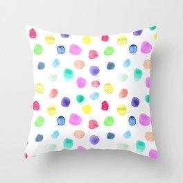 Watercolor confetti Throw Pillow