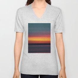 Tri-Tone Abstract Horizon Scene Unisex V-Neck