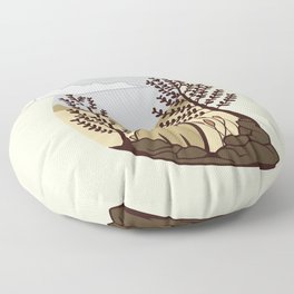 Cute Bear in the Forest Floor Pillow