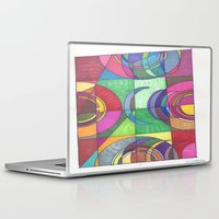 stained glass Laptop & iPad Skins featuring Stained Glass by SaraLaMotheArt