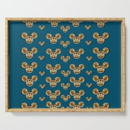 Cartoon animals in gold and silver gift decorations Serving Tray