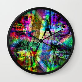 First in collusion, then inclusion; simple, innit! [RGB] Wall Clock