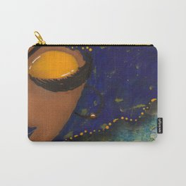 Blue and Gold Sassy Girl  Carry-All Pouch