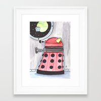 dalek Framed Art Prints featuring Dalek by JerryFleming