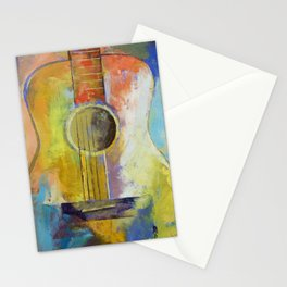 Guitar Melodies Stationery Cards