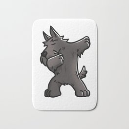 Funny Dabbing Scottish Terrier Dog Dab Dance Bath Mat
