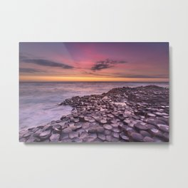 The Giant's Causeway in Northern Ireland at sunset Metal Print