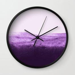 Amethyst Watercolor Crush Wall Clock