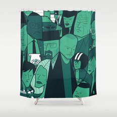 Breaking Bad (green version) Shower Curtain