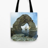 ship Tote Bags featuring Ship by nicky2342