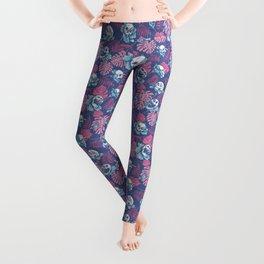 SKULLS & ROSES (Pink) Leggings