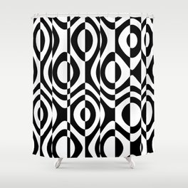 black and white terms Shower Curtain