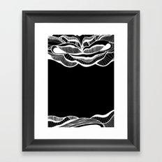 Positive negativism Framed Art Print