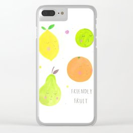 Friendly Fruit Clear iPhone Case