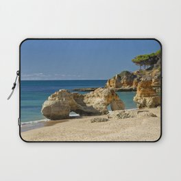 rock formation on Olhos d'Agua beach, Portugal Laptop Sleeve