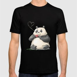 Panda Loves Coffee T-shirt