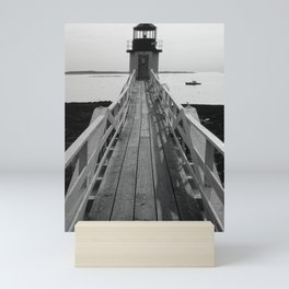 Boat and a Lighthouse Mini Art Print