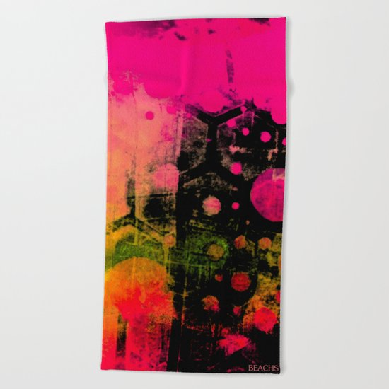 In a Pink and Black Mood Beach Towel