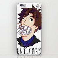 gentleman iPhone & iPod Skins featuring Gentleman by M-chi