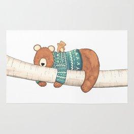 Tired Bear, Cute Cub Rug