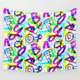 Letters + Numbers Wall Tapestry