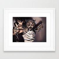 werewolf Framed Art Prints featuring Werewolf by Craig Holland Illustration