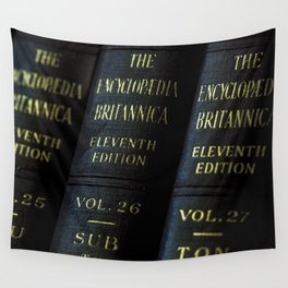 Encyclopedia Britannica 11th Edition Wall Tapestry
