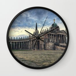 Neues Palais at dusk Wall Clock
